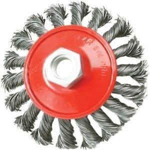 100MM Silverline Steel Twist-Knot Brush
