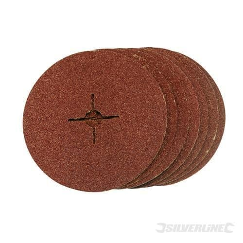 115MM x 22.33 x 60 Grit Silverline Fibre Discs Packed In 10's