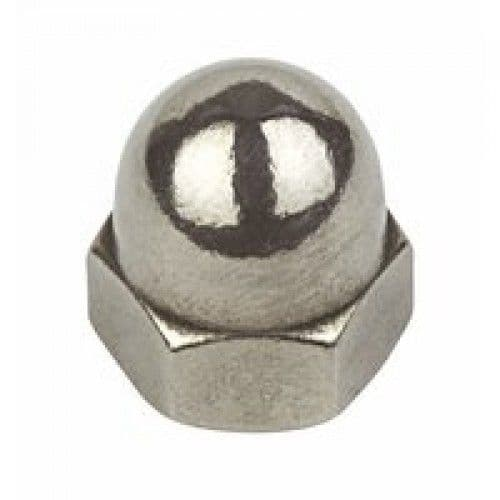 Hexagon Dome Nuts To DIN 1587 Zinc Plated & Stainless Steel