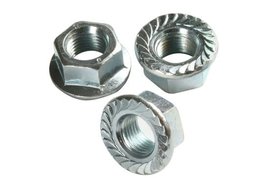 Metric Coarse Hexagon Flange Nuts DIN 6923 Zinc Plated & Stainless Steel