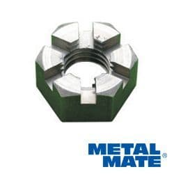 Metric Coarse Slotted Nuts Bright Mild Steel To BS 3692