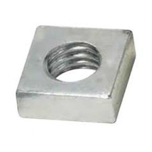 Metric Coarse Square Roofing Nuts Grade 4 Bright Zinc Plated