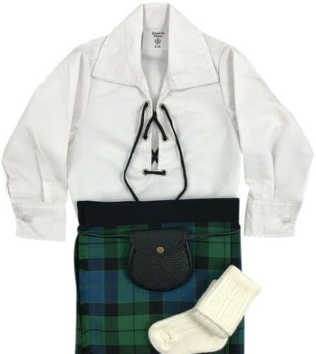 Babies Traditional Kilt Outfits Scottish Tartan MacKay Ancient with special Ghillie Shirt