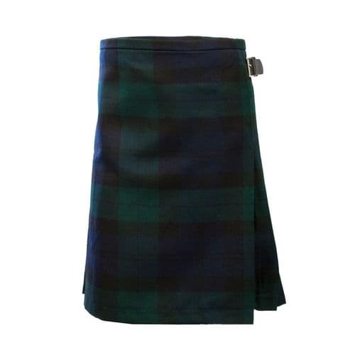 BOYS DELUXE POLYVISCOSE KILT BLACK WATCH  HERITAGE OF SCOTLAND