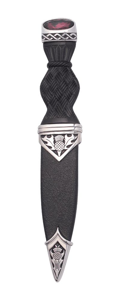 Celtic Polished Sgian Dubh With Stone Top SD70 STONE