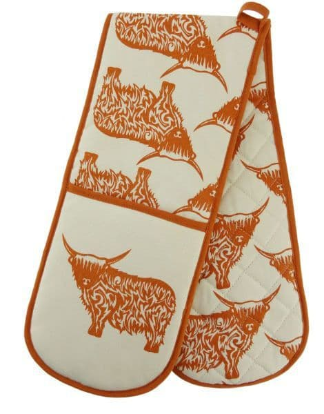 Cow Repeat Double Oven Glove HT0201
