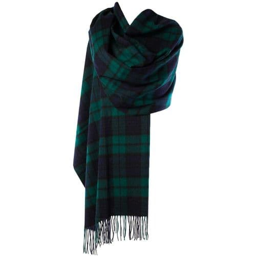 EDINBURGH LAMBSWOOL STOLE BLACK WATCH