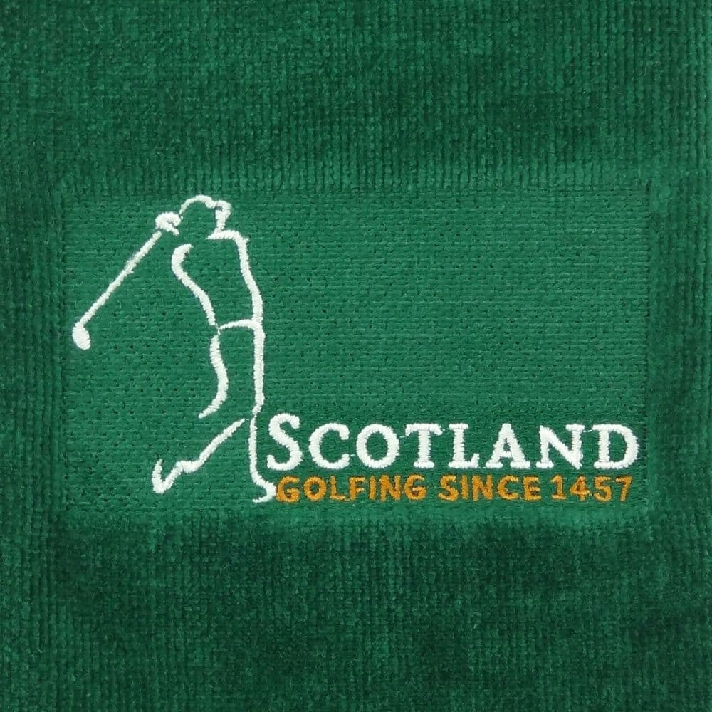 Embroidered 'Golfing since 1457' Golf Towel in  Green   GT1041-GREEN