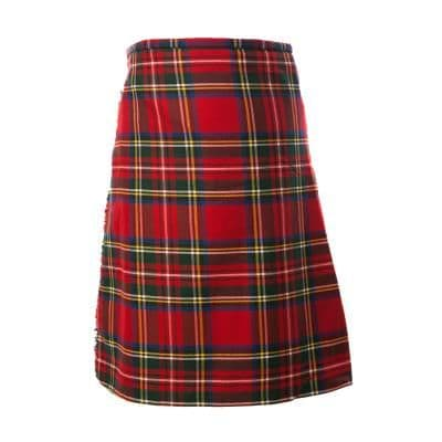 Gents 8 Yard Deluxe Kilt Stewart Royal