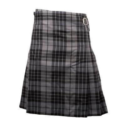 GENTS LIGHTWEIGHT PARTY KILT GRANITE GREY