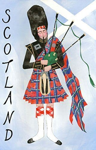 Glen Appin Cotton Saltire Piper Tea Towel Brand New