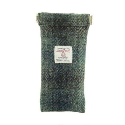 Harris Tweed Glasses Case in Moss Green LB2109-COL91
