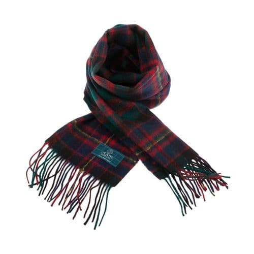 LAMBSWOOL SCOTTISH TARTAN CLAN SCARF CAMERON OF ERRACHT