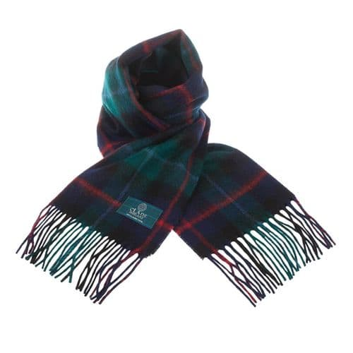 LAMBSWOOL SCOTTISH TARTAN CLAN SCARF CAMPBELL OF CAWDOR