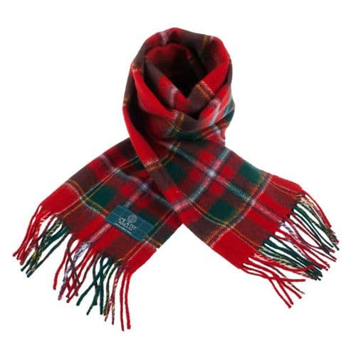 Lambswool Scottish Tartan Clan Scarf Drummond Of Perth