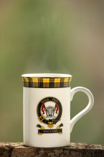 Scottish Balmoral Clan Mug New Clans A-G Available Hand Made in Scotland
