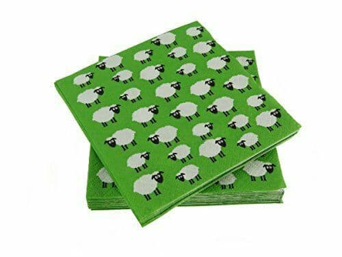 Sheep Repeat Paper Cocktail Napkins Brand New
