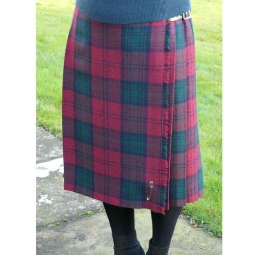 Tartan Ladies Long Kilt In Classic Lindsay