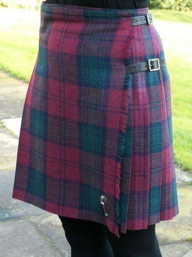 Tartan Ladies Short Kilt In Antique Royal Stewart Classic Lindsay