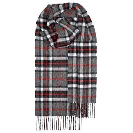 THOMPSON GREY TARTAN LAMBSWOOL SCARF
