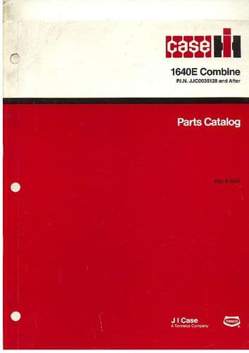Case IH Combine 1640 European Parts Manual - PIN JJC0035128 & After