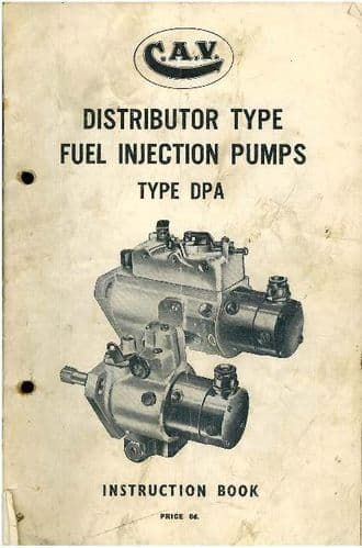 CAV Fuel Injection Pump Type DPA Instruction Manual