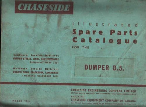 Chaseside D5 Dumper Parts Manual