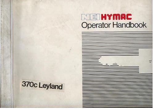 Hymac Digger Loader Backhoe 370C (Leyland) Operators Manual
