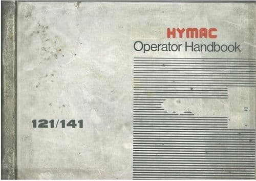 Hymac Excavator 121 & 141 Operators Manual