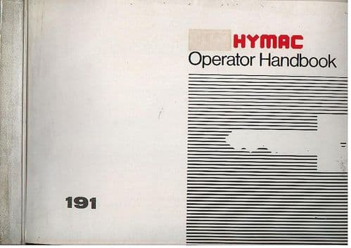 Hymac Excavator 191 Operators Manual