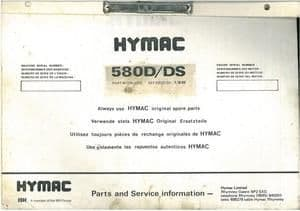 Hymac Excavator 580D & 580DS Parts Manual