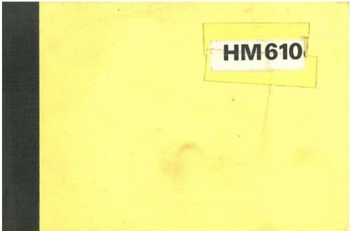 Hymac Excavator 610 Operators & Maintenance Manual - HM610