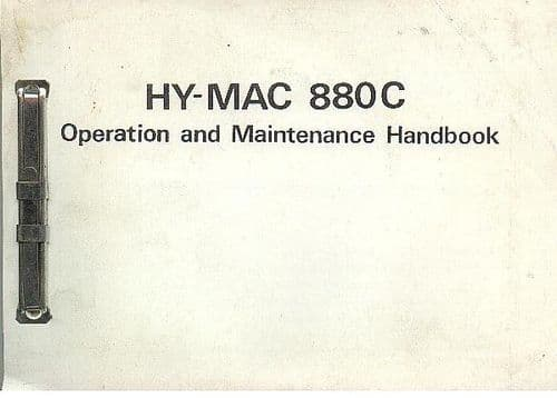 Hymac Excavator 880C Operators Manual