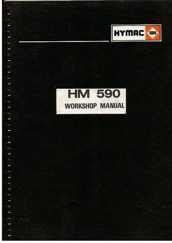 Hymac Excavator HM 590C Service Workshop Manual