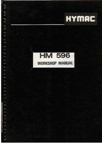 Hymac Excavator HM 596 Service Workshop Manual