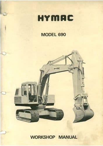Hymac Excavator Model 690 Service Workshop Manual