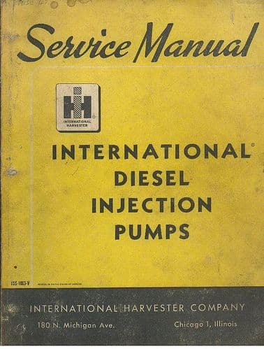 International Diesel Fuel Injection Pumps Service Manual - 1959