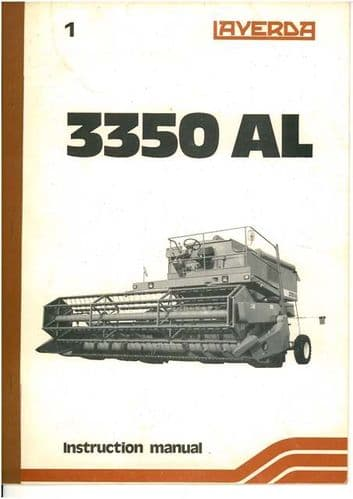 Laverda Combine 3350 AL Operators Manual - 3350AL