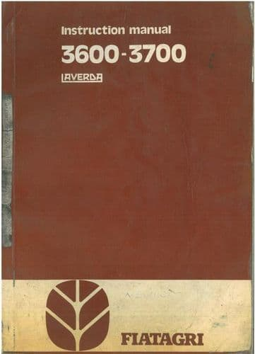 Laverda Combine 3600 & 3700 Operators Manual