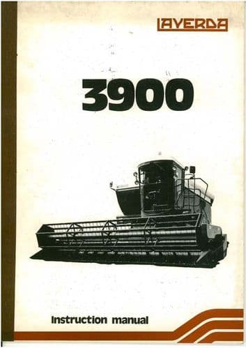 Laverda Combine 3900 Operators Manual