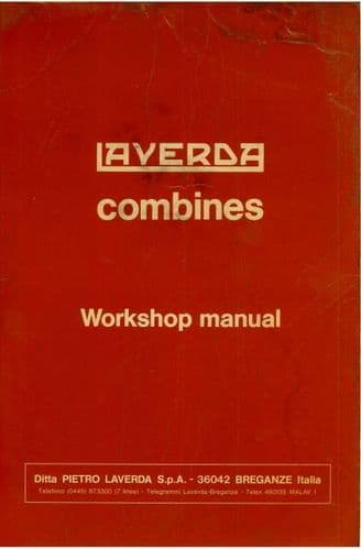 Laverda Combine M112 M132 M152 Service Workshop Manual