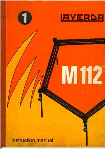 Laverda Combine M112 Operators Manual