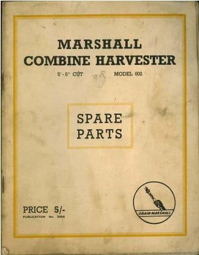 Marshall Combine Model 602 Parts Manual - GTC