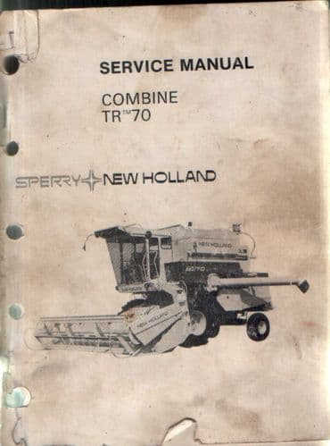 New Holland Combine TR70 Service Manual