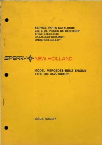 New Holland Mercedes Benz Engine - Model OM352 / 900.021 Parts Manual