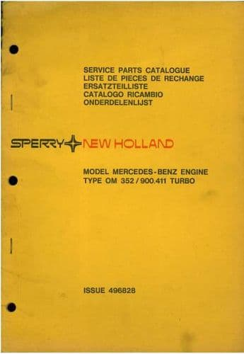New Holland Mercedes Benz Engine - Model OM352 / 900.411 Turbo Parts Manual
