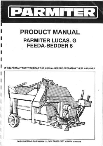 Parmiter Lucas G Feeda-Bedder 6 Operators Manual with Parts List