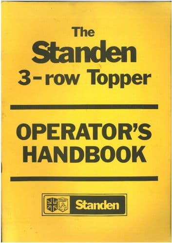 Peter Standen 3-Row Topper Operators Manual with Parts List