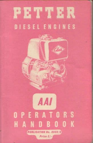 Petter Diesel Engine AA1 Operators Manual