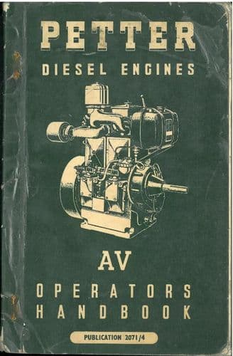 Petter Diesel Engine AV1 & AV2 Operators Manual